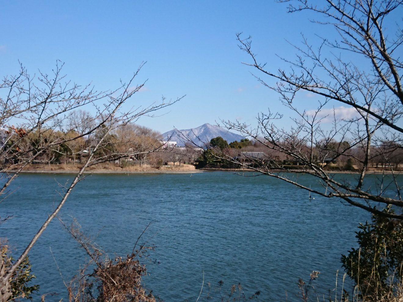 砂沼と筑波山の写真