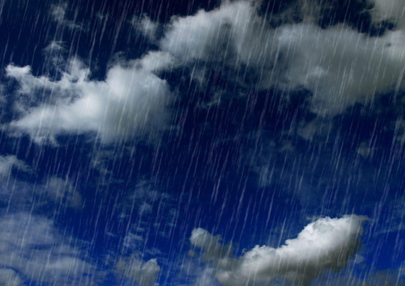 雨が振っている写真